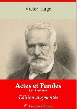 Actes et paroles (Les 4 volumes) (Victor Hugo) | Ebook epub, pdf, Kindle