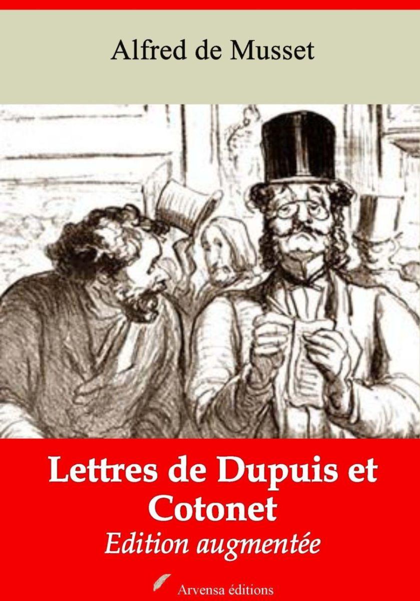 Lettres de Dupuis et Cotonet (Alfred de Musset)   Ebook epub, pdf, Kindle