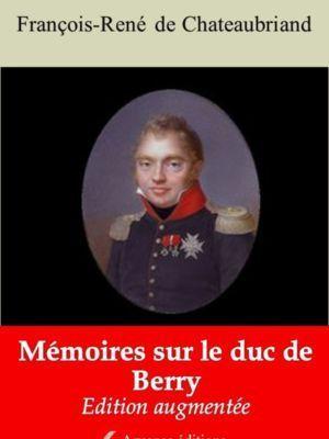 Mémoires sur le duc de Berry (Chateaubriand) | Ebook epub, pdf, Kindle