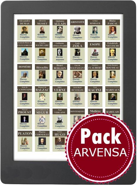 pack ebooks litterature philosophie french arvensa